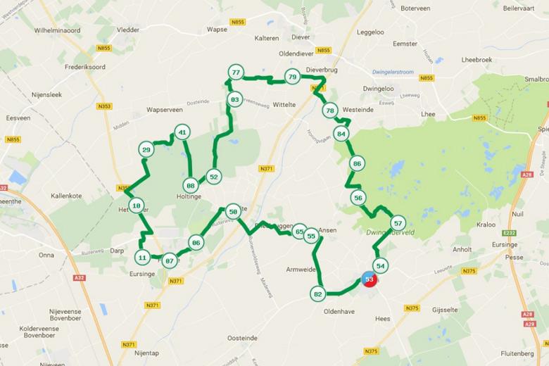 Knooppuntenroute Drenthe